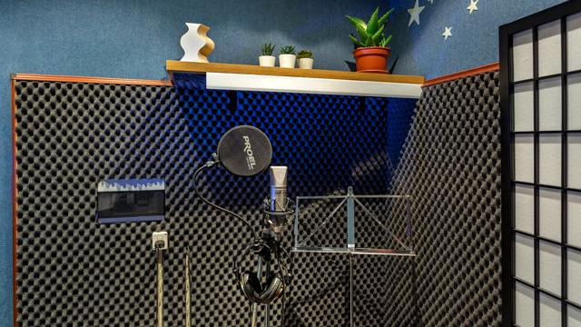 Sala di registrazione dello studio di registrazione Soundless Studio.