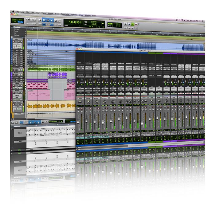 Schermata del software Pro Tools per editing audio e video usato nelle produzione video.