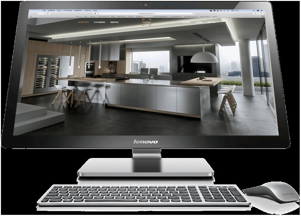 Computer Lenovo con cucina di arketipo realizzazione-siti-web-torino