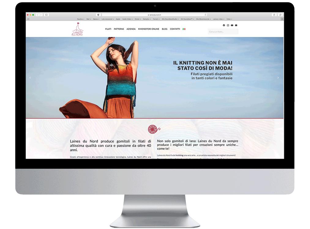 vestito fatto con lana laines du nord realizzazione siti web